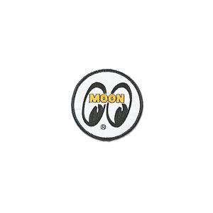 MOONEYES (ムーンアイズ) パッチ ホワイト アイボール 7.5cm|mooneyes