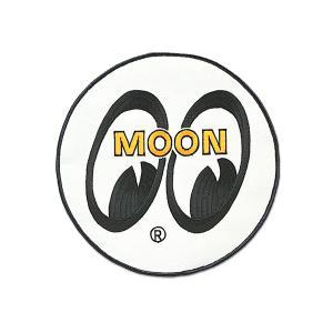 MOONEYES (ムーンアイズ) パッチ ホワイト アイボール 20cm|mooneyes