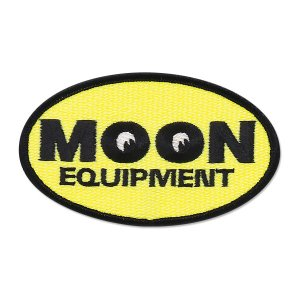 MOON Equipment オーバル パッチ Sサイズ 4.6 x 9cm|mooneyes