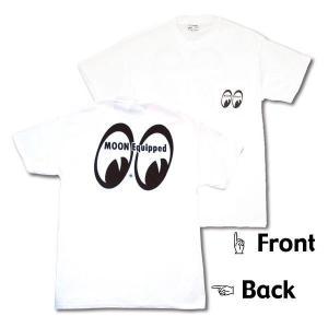 XXLサイズ ムーンアイズ MOON Classic Eyeshape Logo Tシャツ|mooneyes