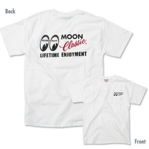 MOON Classic Logo ポケット Tシャツ|mooneyes