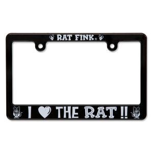 ラットフィンク バイク ナンバーフレーム Rat Fink モーターサイクル ライセンス フレーム アイ ラブ ザ ラット|mooneyes