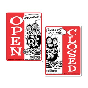 Rat Fink(ラットフィンク)  メッセージ ボード OPEN & CLOSED (縦型)|mooneyes