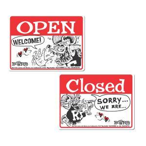 Rat Fink(ラットフィンク)  メッセージ ボード OPEN & CLOSED (横型)|mooneyes