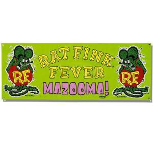 Rat Fink(ラットフィンク)  MAZOOMA Vinyl Banner|mooneyes