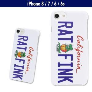 Rat Fink (ラットフィンク) iPhone7 & iPhone6/6s ハード カバー カリフォルニア プレート|mooneyes