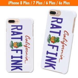Rat Fink (ラットフィンク) iPhone7 Plus & iPhone6/6s Plus ハード カバー カリフォルニア プレート|mooneyes
