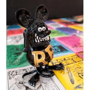 RAT FINK ビニール ドール ブラック/ゴールド|mooneyes