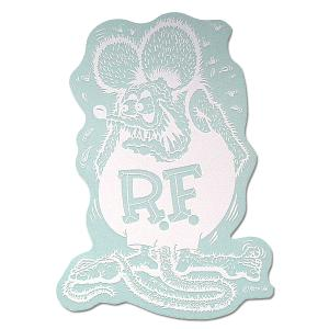Rat Fink(ラットフィンク)  デカール ホワイト L 20×14cm|mooneyes