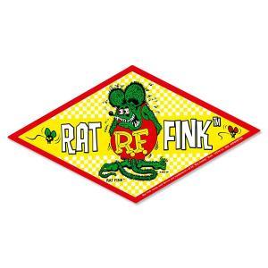 Rat Fink(ラットフィンク)  チェッカー デカール|mooneyes
