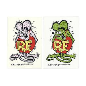 Rat Fink(ラットフィンク)  Made in USA ステッカー 9×5.7cm|mooneyes