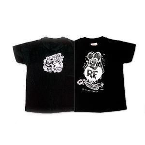 Rat Fink(ラットフィンク)  Kids MONO Tシャツ ブラック|mooneyes