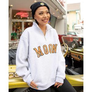 MOON ハーフ ジップ スウェットシャツ|mooneyes