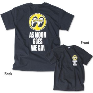 XXLサイズ As MOON Goes We Go Tシャツ|mooneyes