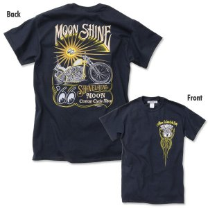XXLサイズ MCCS MOON Shine Tシャツ|mooneyes