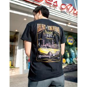 XXLサイズ ムーンアイズ 横浜 Heart of Yokohama Cruisin Tシャツ|mooneyes