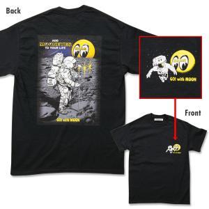 【XXLサイズ】MOON (ムーン) アストロノート Tシャツ|mooneyes