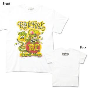 【XXLサイズ】Rat Fink x MOON (ラットフィンク x ムーン) エアブラシ Tシャツ|mooneyes