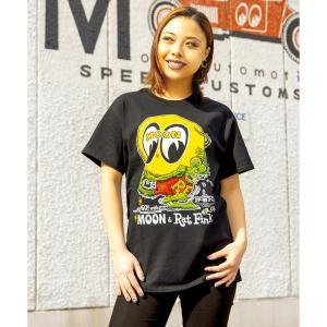 【XXLサイズ】Rat Fink x MOON (ラットx ムーン) Tシャツ|mooneyes