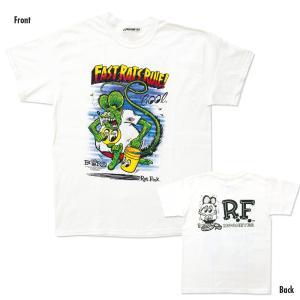 【XXLサイズ】Rat Fink x MOON Fast Rat Rule (ラット フィンク x ファスト ラット ルール) Tシャツ|mooneyes