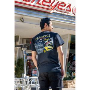 ムーンアイズ MOON 本牧 Then & Now Tシャツ|mooneyes