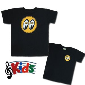 MOON EYEBALL Kids T-Shirts Black from USA|mooneyes