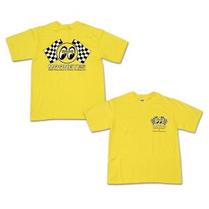 キッズ&レディース Checker MOON Tシャツ|mooneyes
