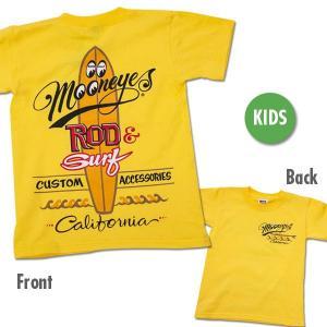 キッズ ROD & SURF California Tシャツ|mooneyes