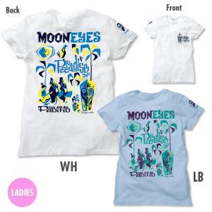 MOONEYES x Mookie レディース Paradise of Pacific Tシャツ mooneyes