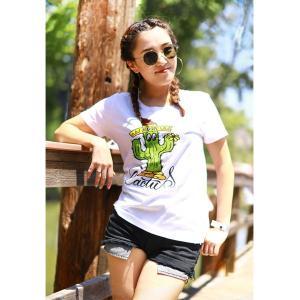 レディース MOON Cactus Tシャツ|mooneyes