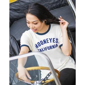 ムーンアイズ レディース MOON California トリム Tシャツ|mooneyes