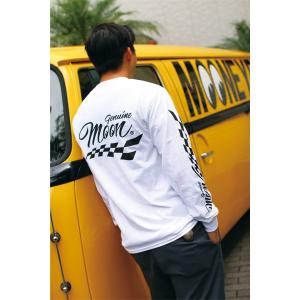 Genuine MOON Checker ロング スリーブ Tシャツ|mooneyes