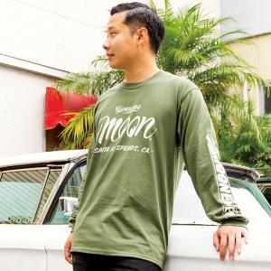 XXLサイズ Genuine MOON ロング スリーブ Tシャツ|mooneyes