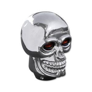 Plastic Skull シフトノブ クローム|mooneyes