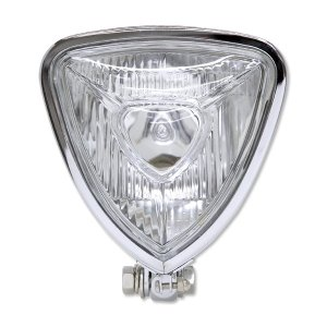 Chrome Triangle モーターサイクル ヘッドライト (Flat Back)|mooneyes