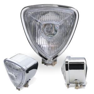 Chrome Triangle モーターサイクル ヘッドライト|mooneyes