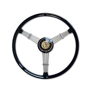 Banjo ステアリング ホイール ブラック 40cm|mooneyes