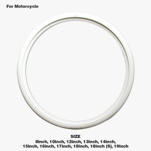 ムーンアイズ ホワイトリボン モーターサイクル用|mooneyes