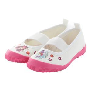 とってもかわいいディズニーの上履きです。女の子用のピンクのアッパーにはミニーとデイジーがプリントされ...