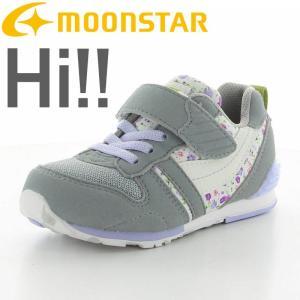 ムーンスター [セール50%OFF]  子供靴 キッズスニーカー MS C2121S GY/ラベンダー moonstar