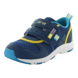 ムーンスター 子供靴 キッズスニーカー キャロット CR C2175 ネイビー [急速乾燥] moo...
