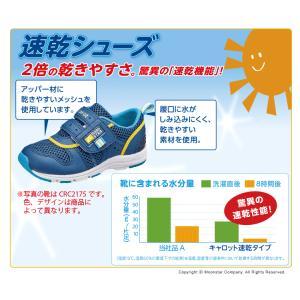 ムーンスター 子供靴 キッズスニーカー キャロット CR C2175 ネイビー [急速乾燥] moonstar|moonstar|08
