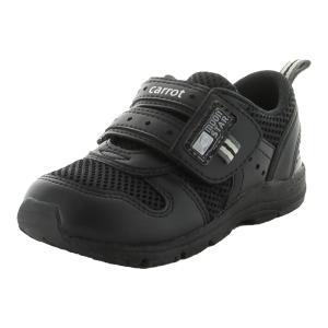 ムーンスター 子供靴 キッズスニーカー キャロット CR C2175 ブラック [急速乾燥] moo...