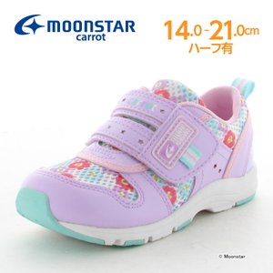 ムーンスター 子供靴 キッズスニーカー キャロット CR C2175 パープル [急速乾燥] moo...