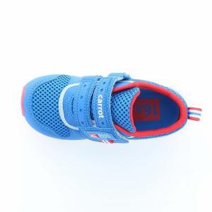 ムーンスター [2020年新作] キャロット 子供靴 キッズスニーカー CR C2175 ブルー moonstar 急速乾燥|moonstar|03