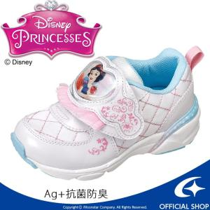 [セール] ディズニー プリンセスシリーズの白雪姫 キッズシューズです。甲バンドにキャラクターを大き...