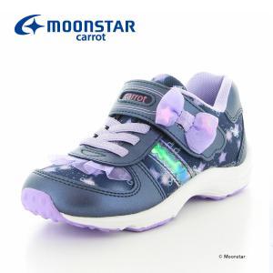 ムーンスター [セール] キャロット MOONSTAR 子供靴 キッズスニーカー 女の子 CR C2251 ネイビー