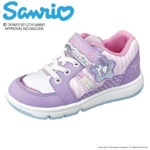 サンリオ [セール] ハローキティ 子供靴 女子 キッズスニーカー SAN C004 パープル 抗菌