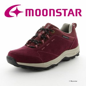 ムーンスター [セール] ウォーキングシューズ 防水タイプ レディース SPLT L133 グレープ moonstar 梅雨 抗菌 ムーンスター 公式ショップ