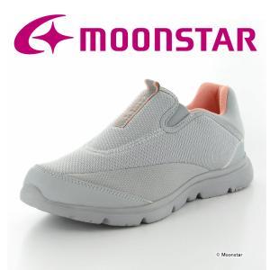 ムーンスター [セール] ウォーキングシューズ レディース SPLT L163 グレイ 3E moonstar 抗菌 ムーンスター 公式ショップ